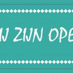 Weer open!
