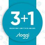 Sloggi actie 3 + 1 gratis